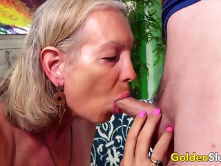 blowjob, blonde, compilation, granny, mature,